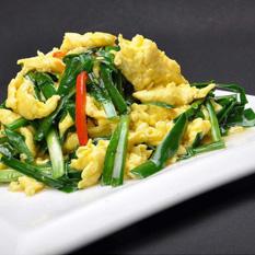 山韭菜炒鸡蛋